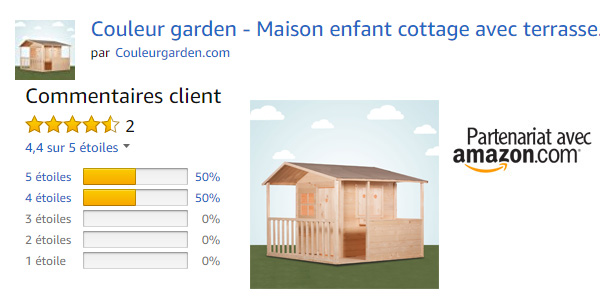 Cabane garden, avis clients