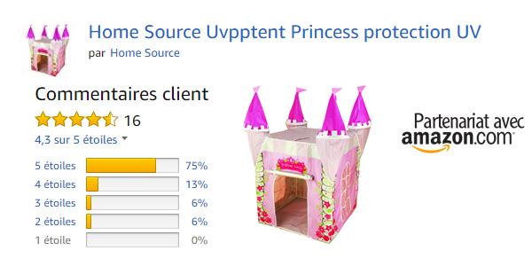 Tente chateau, avis client