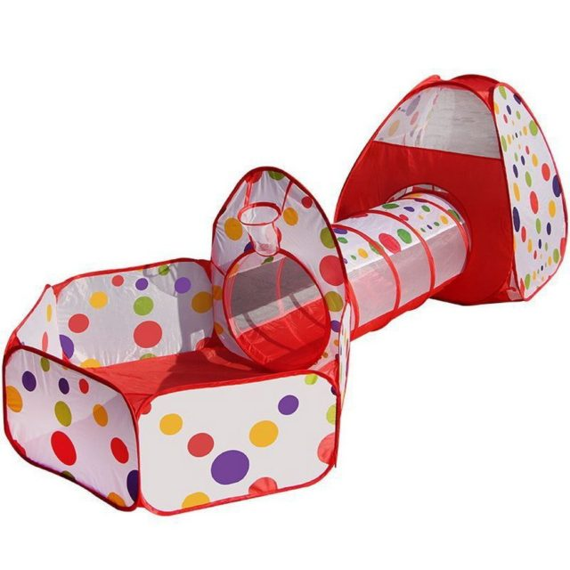Tente Piscine à boules avec tunnel